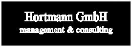 Hortmann GmbH – Management & Consulting, Hamm, Logo, weiß